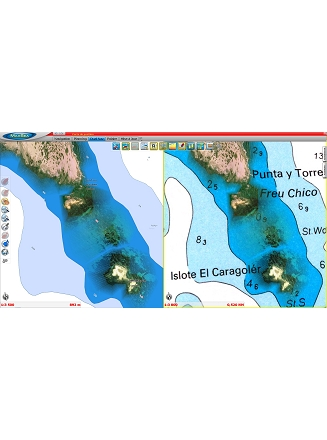 MaxSea TimeZero Navigator Raster vs Vector Chart display 3D Photo HD 2