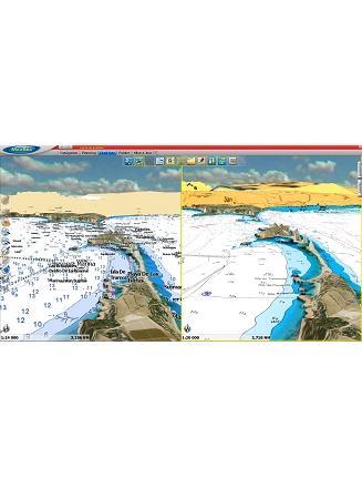 MaxSea TimeZero Navigator Raster vs Vector Chart display 3D Photo HD 3