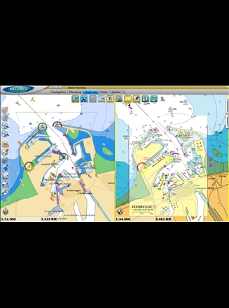 MaxSea TimeZero Navigator Raster vs Vector Chart display 3D photo HD