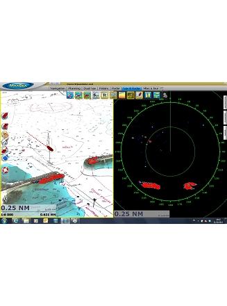 Dual Nav Radar Overlay et carte Raster 3D