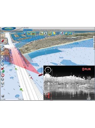 Affichage FLIR sur carte Raster 3D