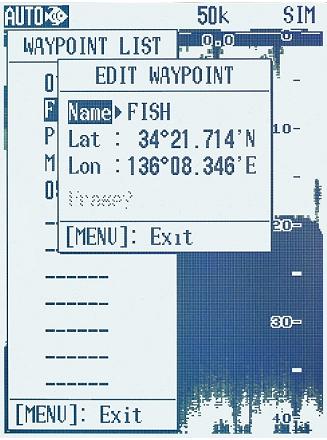 Entrée de waypoint sur LS4100